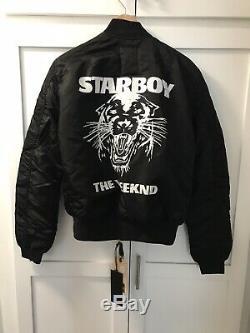 The Weeknd Starboy Alpha Industries Bomber Jacket Medium
