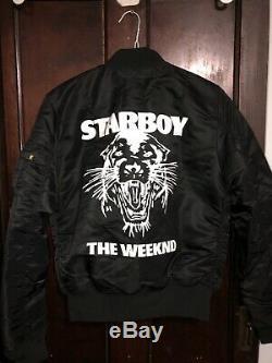 The Weeknd Starboy Medium Slimfit Bomber Jacket