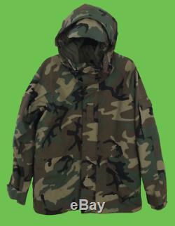 USGI ALPHA INDUSTRIES US Army Cold Weather Parka Camouflage Jacket Coat Sz M