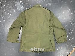 US Army M65 Field Jacket Medium 1970 Vtg Vietnam Military Coat Alpha