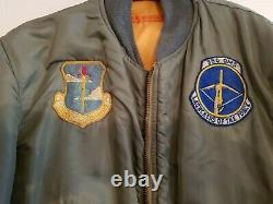 Usaf Air Force Ma-1 Flight Jacket Medium 1964 Original With Patches