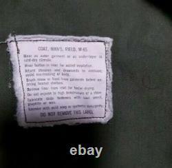 VTG Vietnam ERA 1970 M65 Military Field Jacket, Med/Reg ALPHA Cleaned
