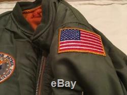 Vietnam Era USAF 1970 Civil Air Patrol MA-1 Flight Jacket XL Intermediate Alpha