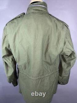 Vietnam War Era U. S. Military M-65 OG-107 Field Coat Alpha Industries MED Short
