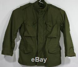 Vintage 1973 Alpha Industries Vietnam War Era M65 Military Jacket Mens Size Med