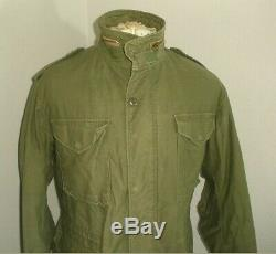 Vintage ALPHA Industries Military M-65 cold weather Field Jacket USA MADE Medium