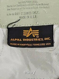 Vintage Alpha Industries CWU-45/P N SILVER Flight Bomber Jacket Mens Medium