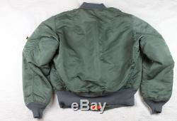 Vintage Alpha Industries MA-1 Bomber Flyers Flight Jacket Made USA Medium EUC