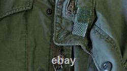 Vintage Genuine Usmc Dated 1974 Vietnam M65 Alpha Ind Field Jacket Medium Long