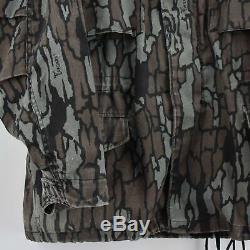 Vintage M-65 Alpha Industries Trebark Camouflage Field Coat Army Jacket M Reg