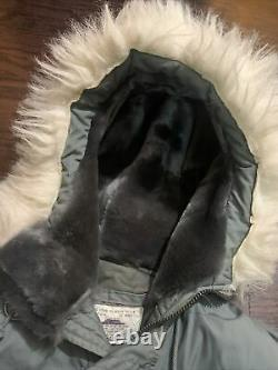 Vintage N3B Air Crew Alpha Extreme Cold Weather Jacket Parka USAF 59 Mens Medium
