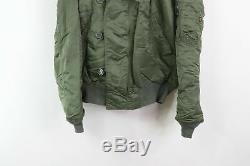 Vtg 80s Alpha Industries Mens Medium N-2B Military Flyers Parka Snorkel Jacket