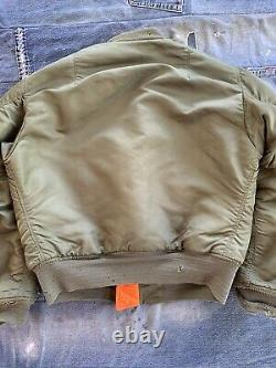 1968 Alpha Industries Inc. Ma-1 Taille Homme M Usaf Military Flight Bomber Jacket