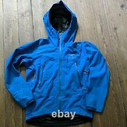 2009 Arcteryx Alpha Sl Veste Gore Tex Paclite Imperméable Bleu Hommes Moyen