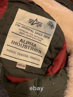 Alpha Industries Bomber Jacket Col En Fourrure, Style M Unisex