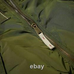 Alpha Industries III Injector Bomber Jacket Dark Green Medium