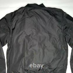 Alpha Industries L-2b Flex Flight Jacket Mens Taille M Noir Réversible Orange
