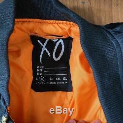 Alpha Industries La Weeknd Veste Xo Main Bombardier Taille Sign M Noir Rare