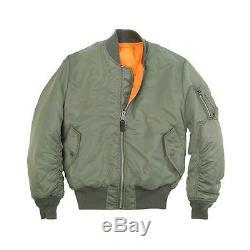 Alpha Industries Ma1 Flight Jacket / Bomber 10 Couleurs Mjm21000c1 Ma1
