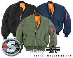 Alpha Industries Ma1 Flying Jacket 01001 Fournisseur Authentique 40 Ans Et Plus