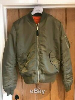 Alpha Industries Ma1 Jacket Version Us Dans Vintage Olive Taille Medium