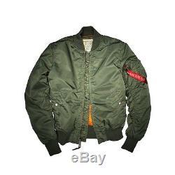 Alpha Industries Ma1 Vf 59 Flight Jacket Green Olive Bomber Veste De Ma1
