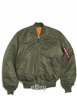 Alpha Industries Ma-1 Blouson Vert Sauge Kanye West Yeezy Lr Pdsf 140 $