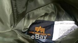 Alpha Industries Ma-1 Bombardier / Flight Jacket Sage Vert, Sz Moyenne