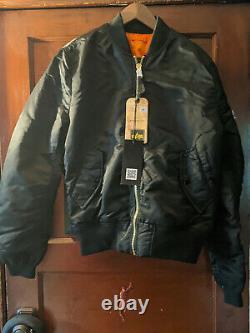 Alpha Industries Ma-1 Bomber Jacket Slim Fit European Fit Size Med. Black New