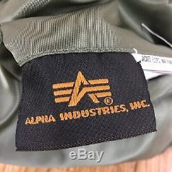 Alpha Industries Ma-1 Flight Bomber Jacket Mens Réversible Medium