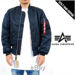 Alpha Industries Ma-1 Flight Jacket / Bomber Mjm21000c1 Replica Bleu Taille M-2xl