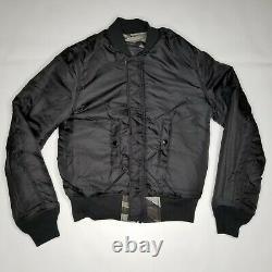 Alpha Industries Ma-1 Slim Fit Flight Jacket Mens Sz Tonal Noir Camo Réversible