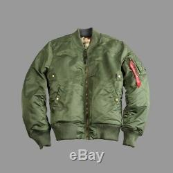 Alpha Industries Ma-1 Vf Rev II Veste Homme Taille Moyenne Brand New Rrp £ 179.99