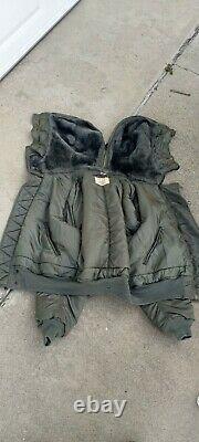 Alpha Industries Military Parka Jacket N-2b Hommes Med Hood Flying Vintage 1966