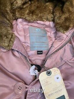 Alpha Industries N3b Vf 59 Parka Coat Silver Pink Size Moyenne Rrp 225 $