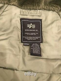 Alpha Industries N-3b Parka À Capuche En Fourrure Vert Militaire Taille Moyenne