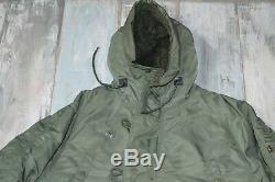 - Alpha Industries N-3b (n) Veste Parka Vert Pour Homme Avec Capuche Taille M Moyenne