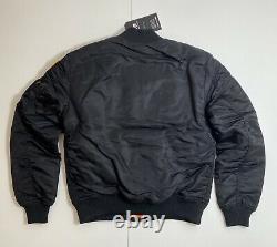 Alpha Industries Nasa Bomber Jacket Black Size M