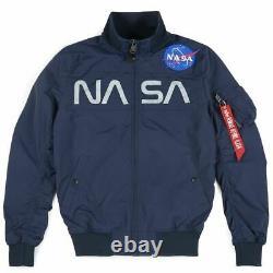 Alpha Industries Nasa Logo Hommes Bomber Jacket 18611107