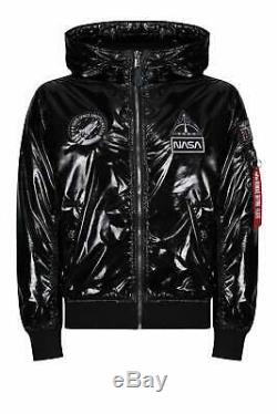 Alpha Industries Nasa Ma-1 Lw Bombardier Hooded Salut Shine Black Jacket