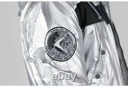 Alpha Industries Nasa N-3b Veste Argent Homme Medium M Nouveauté Avec Tags 198157 31