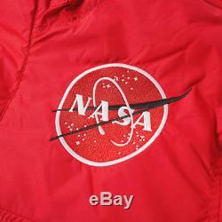 Alpha Industries Nasa Veste Anorak Vitesse Rouge Rrp £ 200.00