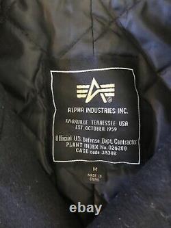 Alpha Industries Pea Coat Noir Double Breasted Homme Moyen