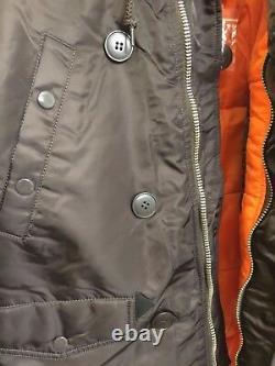 Alpha Industries Slim Fit N-3b Parka Mjn31210c1 Deep Brown Winter Coat Jacket