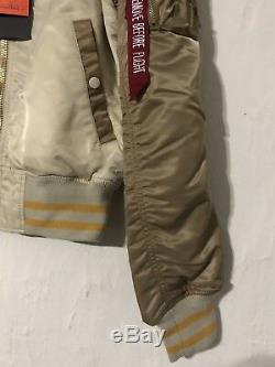 Alpha Industries - Veste Moyenne Vintage Blanc / Sable / Mauve Souvenir Neuf