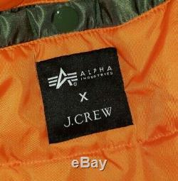 Alpha Industries X J. Crew Editions Grange Militaire Veste Taille Moyenne Neuf Avec Des Étiquettes