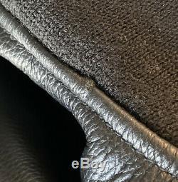 Alpha Industriesma-1 Hommes Cuir Noir Taille Veste Bombardier Pilote De Vol Moyen
