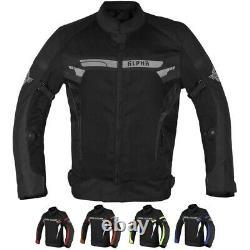 Alpha Mens Mesh Motorcycle Jacket Moto Biker Ce Armor Riding Racing