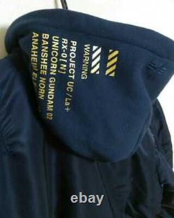 Alpha Strict-g Collaboration Flight Jacket Ma-1 Natus Mobile Suit Gundam M Taille