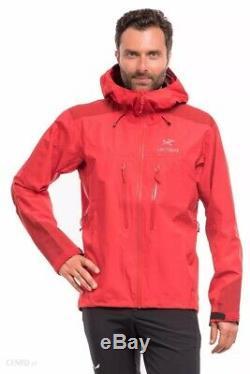 Arc'teryx Alpha Ar Gore-tex Pro Jacket Mens Taille Moyenne Beta Pluie Rouge Imperméable À L'eau